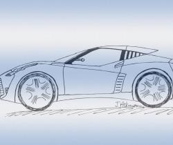 Sports car doodle