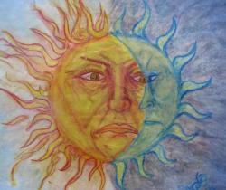 Angry sun and Moon