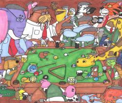 Animal Pool Table