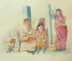 Waiting For Jodhpur Express India
