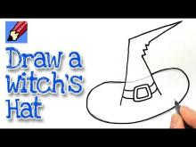 Embedded thumbnail for How to draw a Witch's Hat Real Easy
