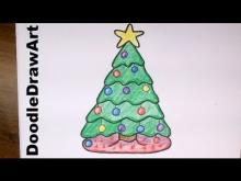 Embedded thumbnail for How To Draw a Cute Cartoon Christmas Tree
