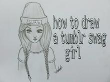 Embedded thumbnail for How to draw a swag girl tumblr