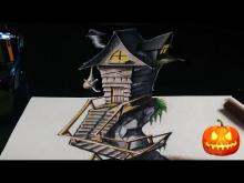 Embedded thumbnail for Drawing a 3D Witch House