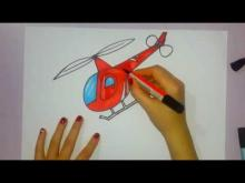 Embedded thumbnail for How to draw a helicopter - by easy draw