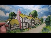 Embedded thumbnail for How to Draw a Cottage House in Two-Point Perspective: Colour Wash