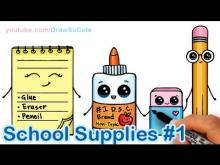 Embedded thumbnail for How to Draw School Supplies Cute and Easy