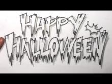 Embedded thumbnail for How to Draw Cool Letters - Happy Halloween in Scary Letters