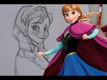 Embedded thumbnail for How to Draw ANNA from Disney's Frozen