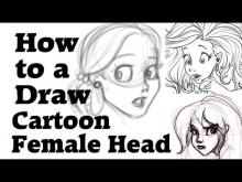 Embedded thumbnail for How to draw a cartoon female head