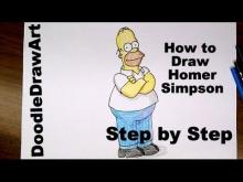 Embedded thumbnail for How To Draw Homer Simpson Step by Step