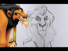 Embedded thumbnail for How to Draw SCAR from Disney's The Lion King