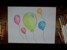 Embedded thumbnail for How To Draw Balloons - Very Easy