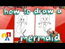 Embedded thumbnail for How To Draw A Mermaid