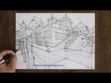 Embedded thumbnail for Draw a town in two point perspective