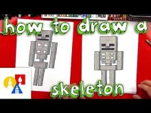 Embedded thumbnail for How To Draw A Minecraft Skeleton
