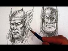 Embedded thumbnail for How to Draw Superhero Faces