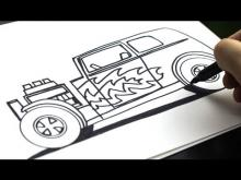 Embedded thumbnail for How To Draw A Hot Rod
