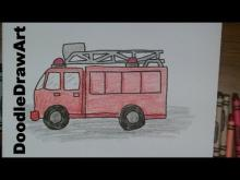 Embedded thumbnail for Draw this Cartoon Firetruck