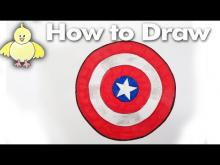 Embedded thumbnail for How to Draw the Captain America Shield Step By Step - Easy!
