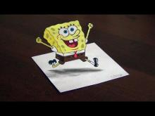 Embedded thumbnail for 3D DRAWING - SpongeBob SquarePants