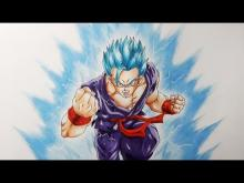 Embedded thumbnail for Drawing Gohan Super Saiyan God Blue
