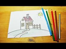 Embedded thumbnail for how to draw a house (for kids)