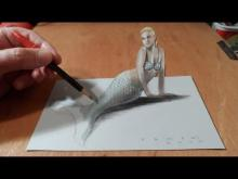 Embedded thumbnail for How I Draw a 3D Mermaid