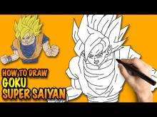 Embedded thumbnail for How to draw Goku Super Saiyan Dragon
