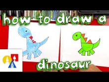 Embedded thumbnail for How To Draw A Dinosaur