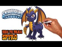Embedded thumbnail for How to Draw Spyro (Skylanders)- Step by Step