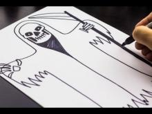 Embedded thumbnail for How To Draw Death, Just In Time For Halloween!