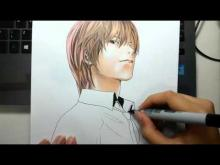 Embedded thumbnail for Drawing - Yagami Light