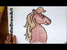 Embedded thumbnail for How To Draw a Horse Step by Step Cartoon