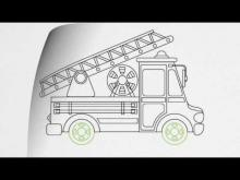 Embedded thumbnail for How to draw a FIRE TRUCK step by step