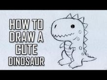 Embedded thumbnail for How To Draw A Cute Cartoon Dinosaur