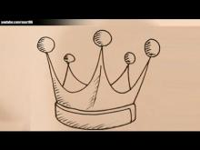 Embedded thumbnail for How to draw a king crown