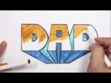 Embedded thumbnail for How to Draw 3D Block Letters