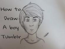 Embedded thumbnail for How to draw a boy tumblr