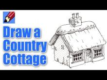 Embedded Thumbnail For How To Draw A Cottage Real Easy