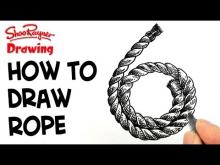 Embedded thumbnail for How to draw coiled rope - clock face