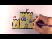 Embedded thumbnail for How to Colour a Cartoon Sandcastle