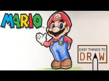 Embedded thumbnail for How to Draw Mario - Easy Things To Draw