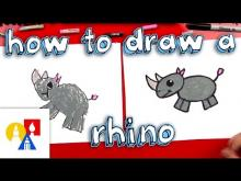 Embedded thumbnail for How To Draw A Cartoon Rhino