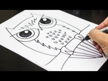 Embedded thumbnail for How To Draw Owl