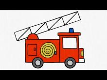Embedded thumbnail for How to draw. a FIRE TRUCK