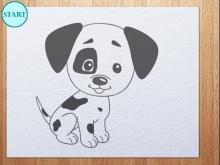 how to draw puppy step by step drawings ideas for kids