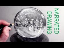 Embedded thumbnail for How to Draw a Snowman in a Snow Globe