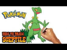 Embedded thumbnail for How to Draw Sceptile (Pokemon)