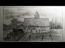 Embedded thumbnail for How to draw an old barn (old farm house)